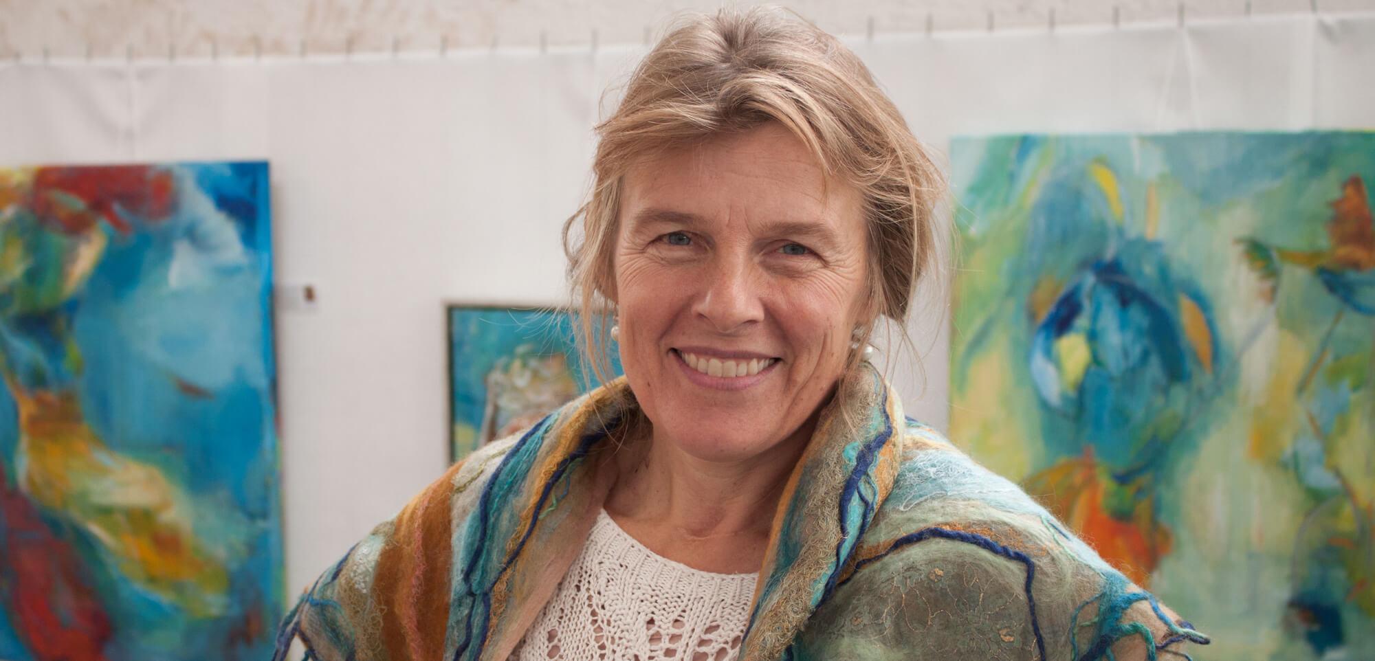 Portræt af maler Gunhild Rasmussen