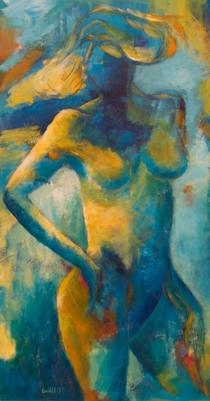 Maleri Sommerpige af Gunhild Rasmussen