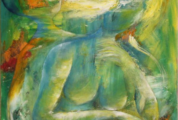 Maleri Favntag af Gunhild Rasmussen