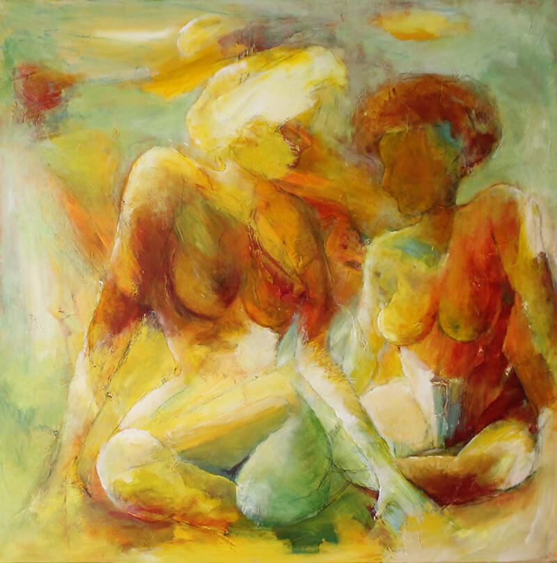 Maleri Kvinder af Gunhild Rasmussen