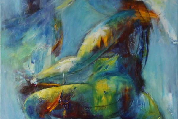 Maleri Lidt vild af Gunhild Rasmussen