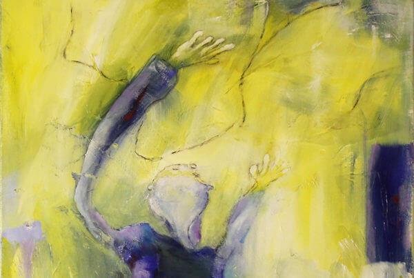 Maleri Min drage og jeg af Gunhild Rasmussen