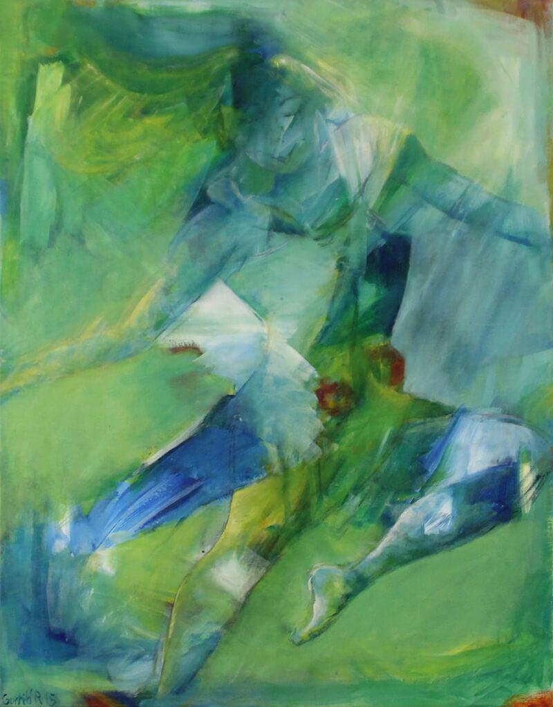 Maleri Svævende dans af Gunhild Rasmussen