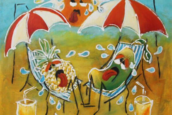 Maleri Drivhuseffekt af Gunhild Rasmussen