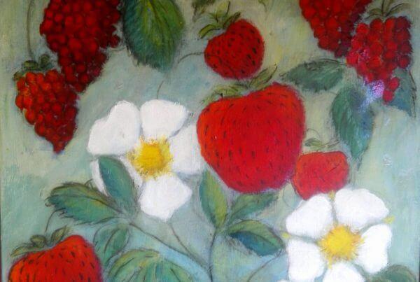 Maleri Rokkedysse Bær af Gunhild Rasmussen