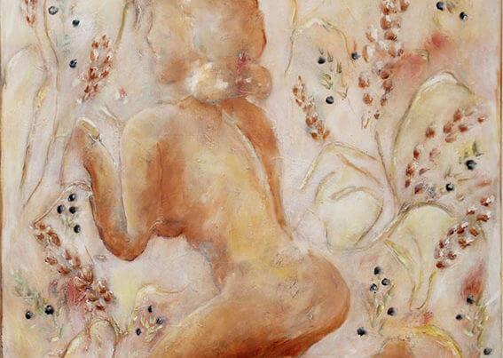 Maleri saison af Gunhild Rasmussen