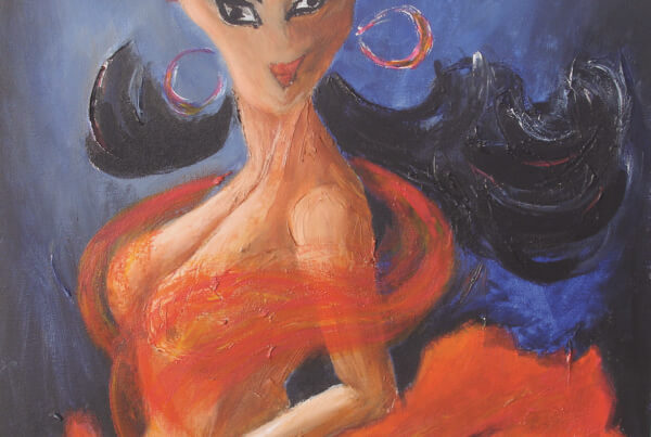 Maleri Black Magic Woman af Gunhild Rasmussen