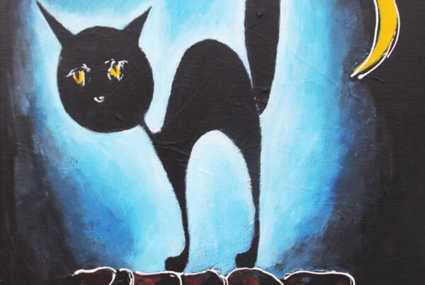 maleri Czech Cat af Gunhild Rasmussen