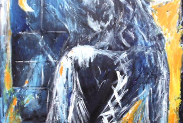 Maleri Dame Blanche af Gunhild Rasmussen