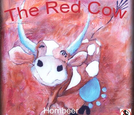 Maleri Hennings Røde ko af Gunhild Rasmussen