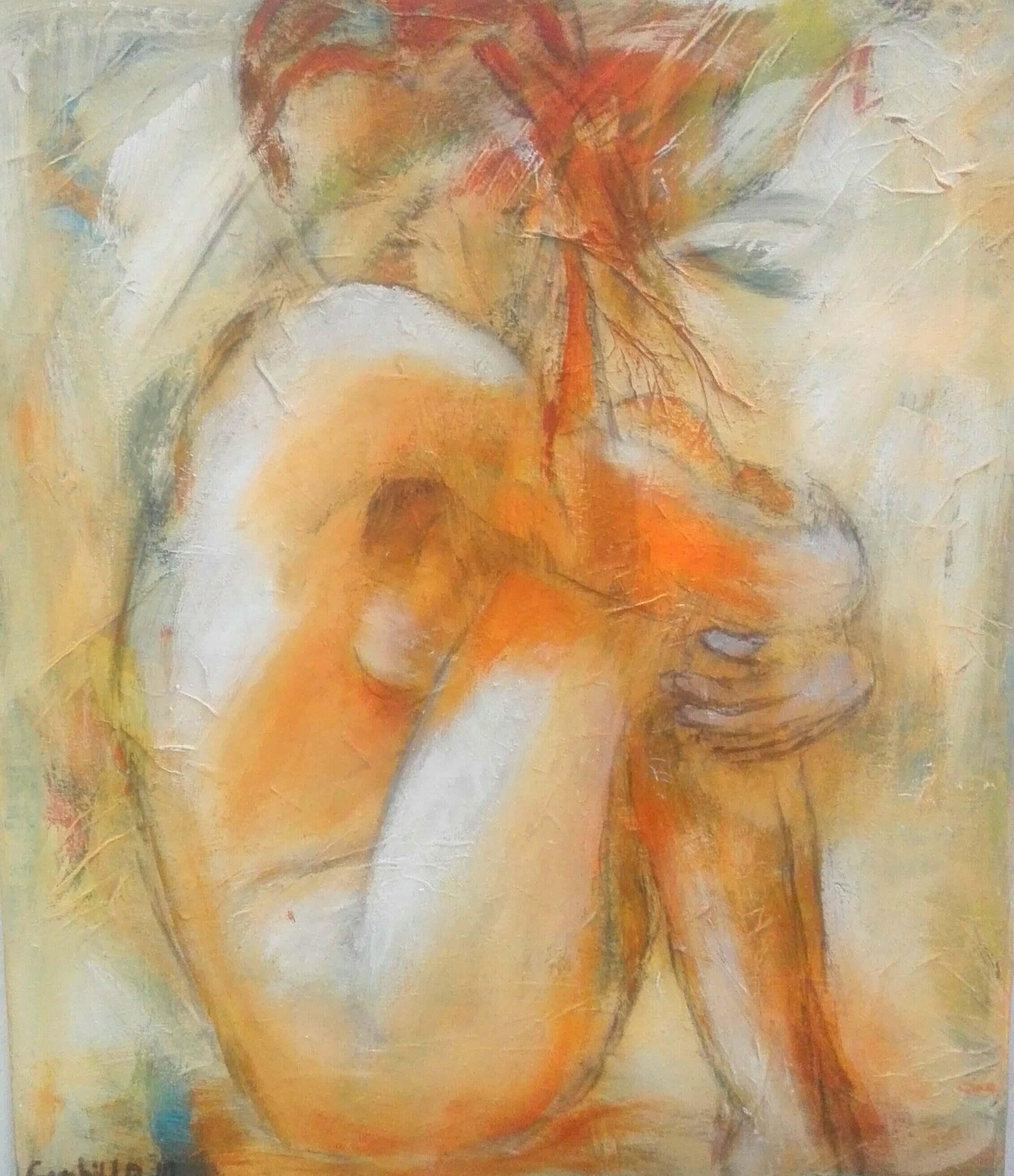 Maleri I egen tanker af Gunhild Rasmussen