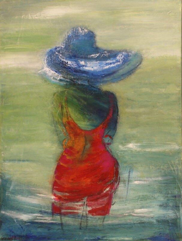 Maleri Ud over vandet af Gunhild Rasmussen