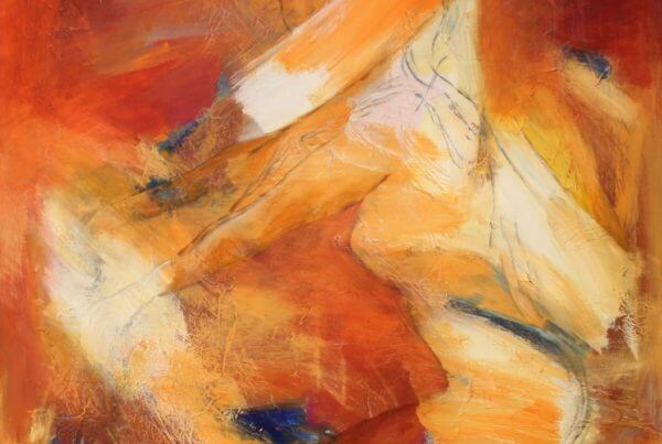 Let abstrakt maleri Cykletur af Gunhild Rasmussen
