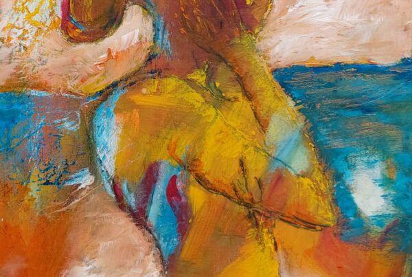 Maleri Kig ud af Gunhild Rasmussen