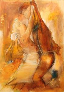 Dansende maleri af Gunhild Rasmussen