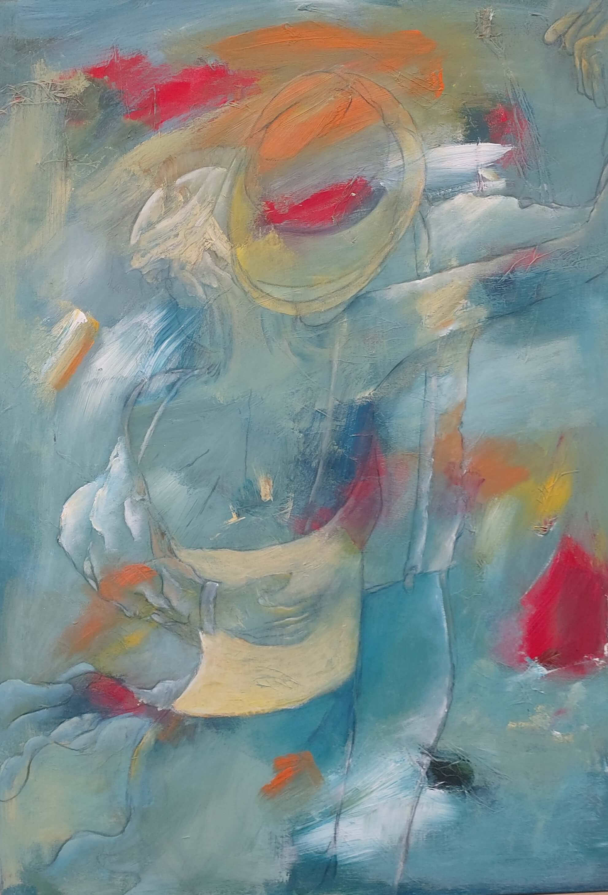 Maleri Dansende en lys sommeraften af Gunhild Rasmussen