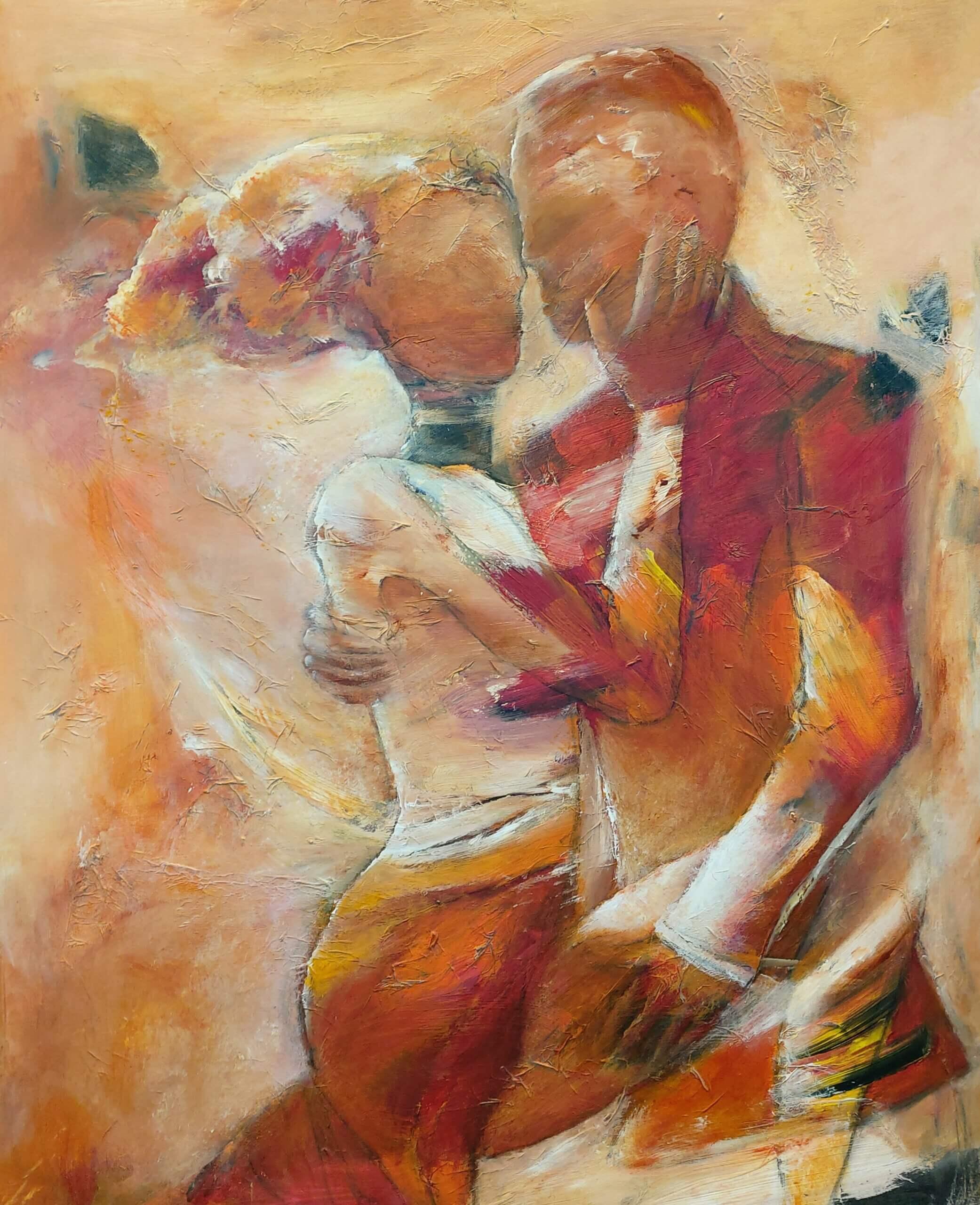 let abstrakt maleri Passion af Gunhild Rasmussen