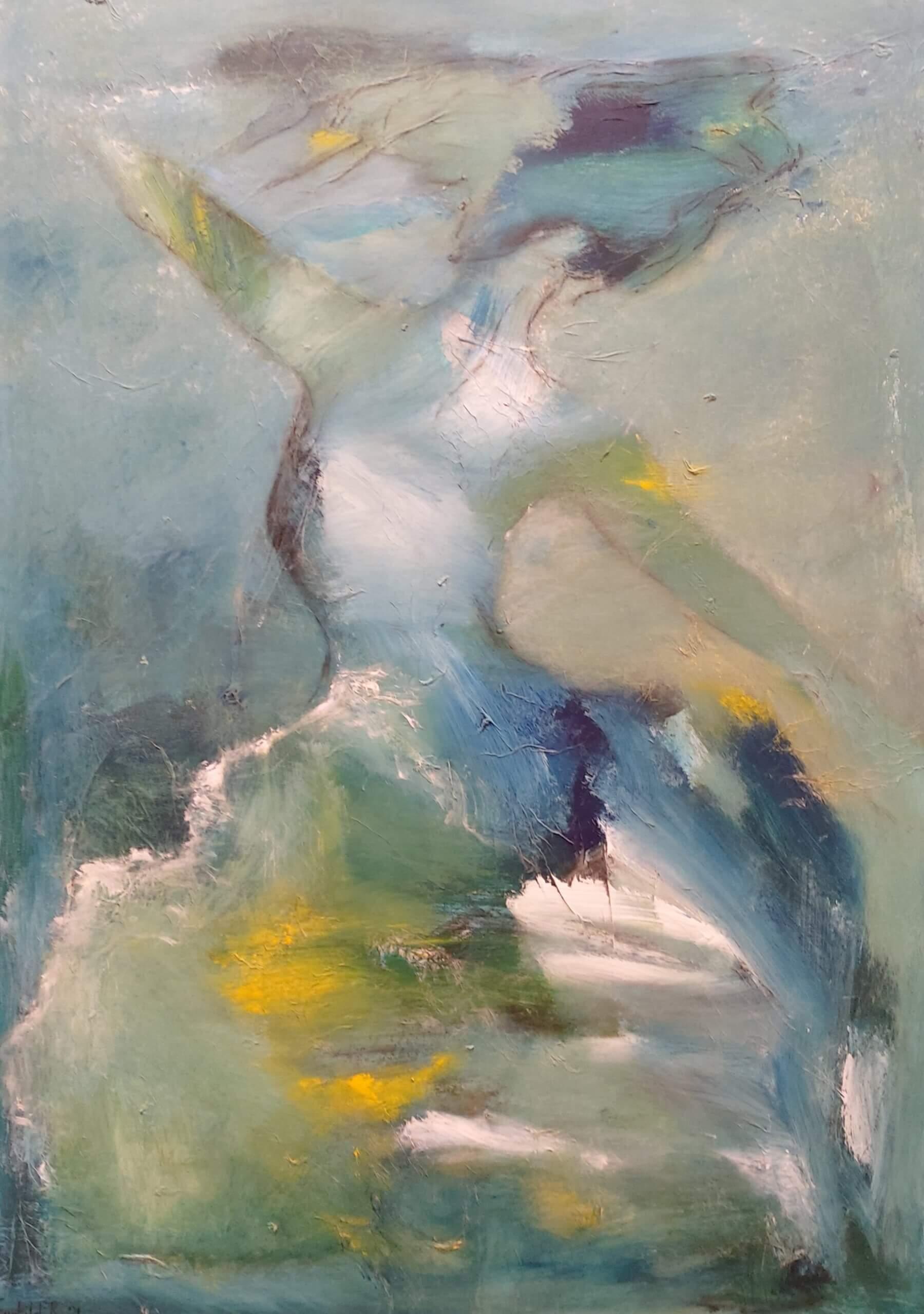 let abstrakt maleriet , Svævende lethed af Gunhild Rasmussen