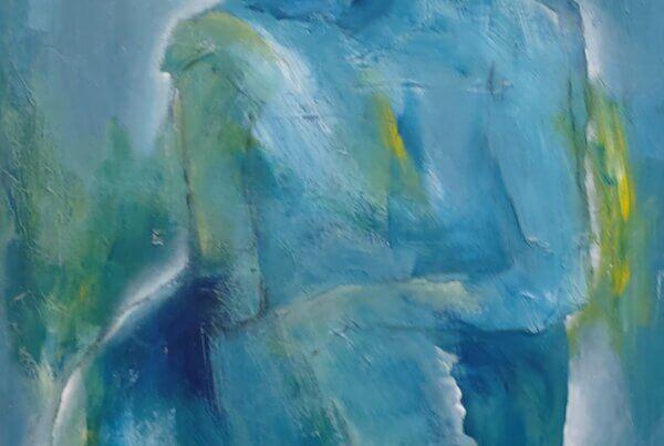 farverige malerier Blå romantik af Gunhild Rasmussen