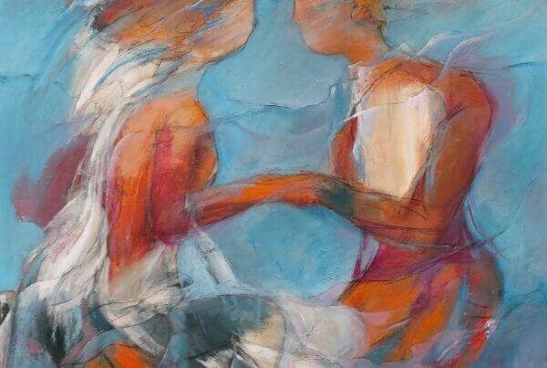 Free Style maleri af Gunhild Rasmussen som kan ses i Kunst i Pinsen