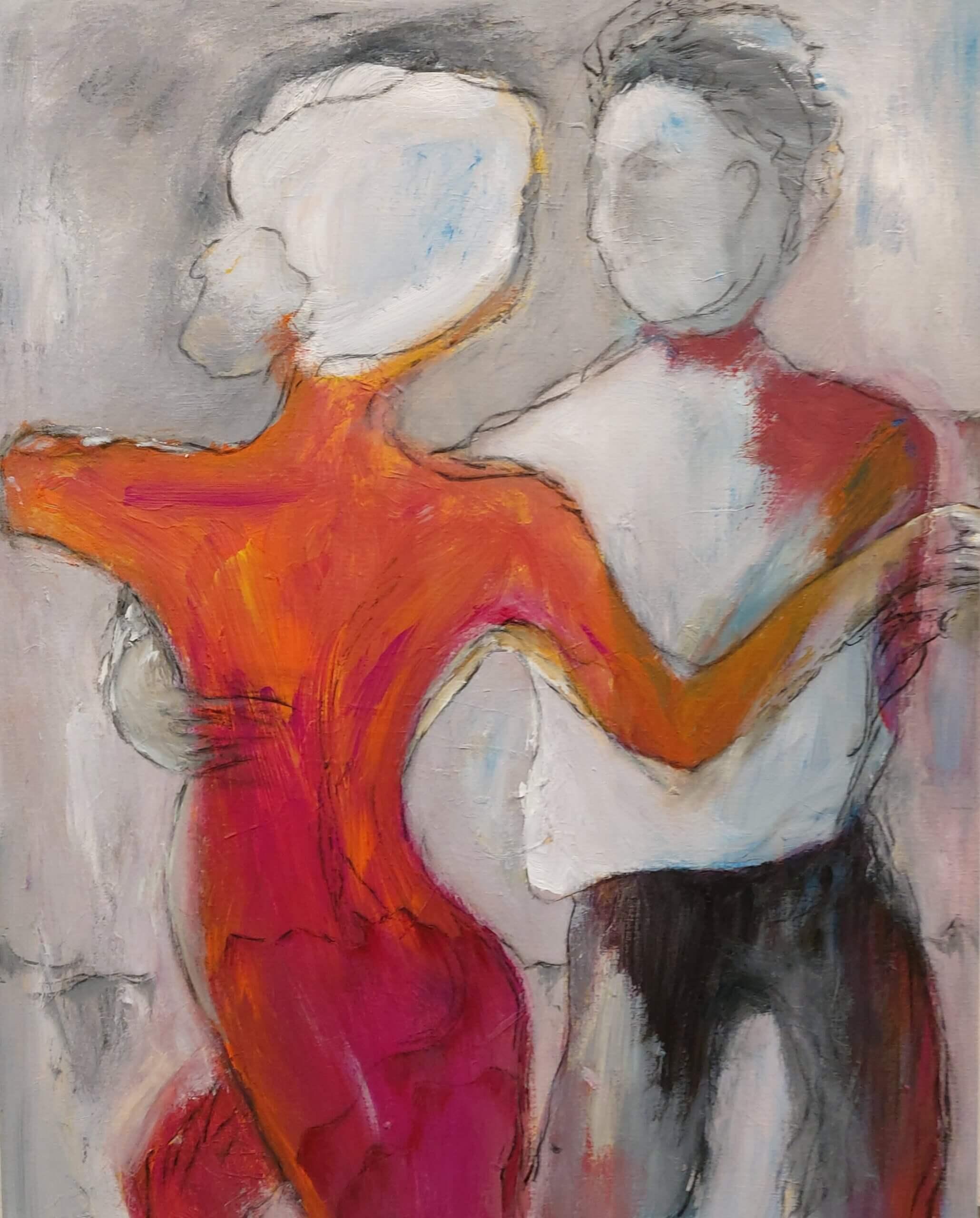 farverigt maleri af Gunhild Rasmussen