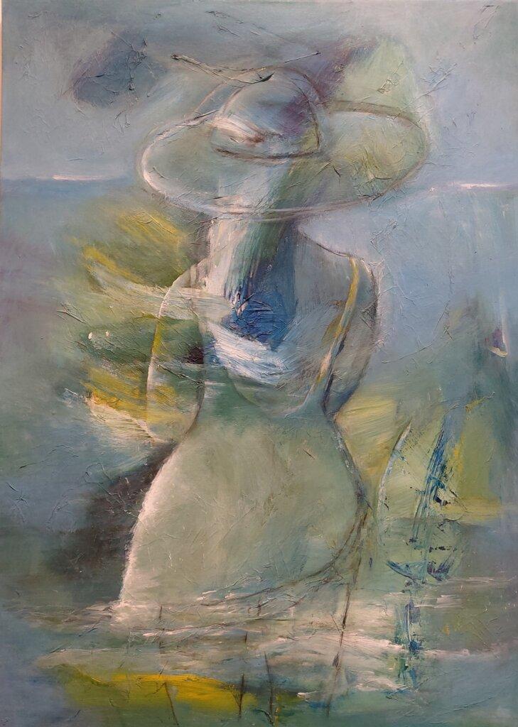 udsigt let abstrakt maleri af Gunhild Rasmussen Gunhilds Galleri