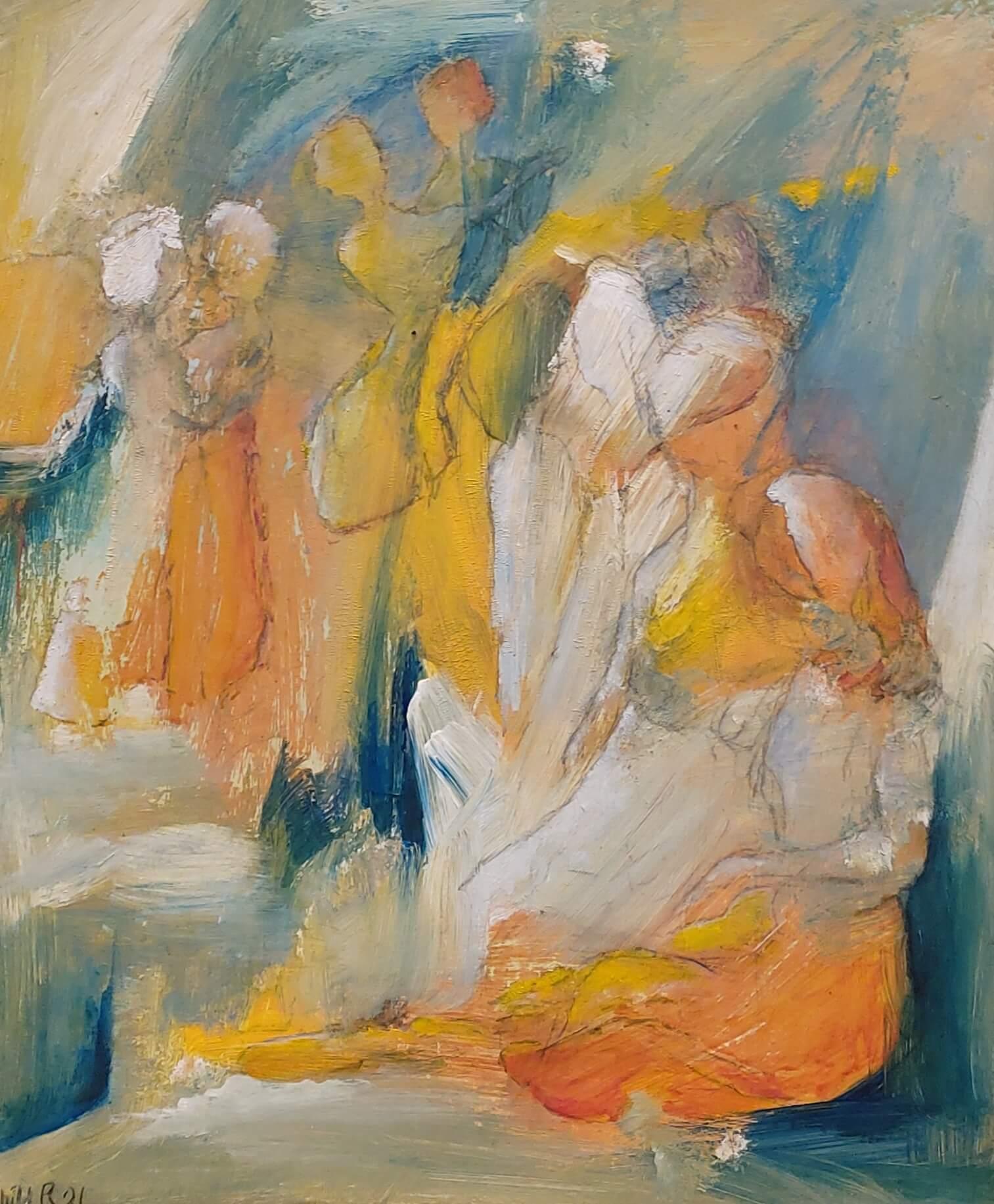 Festaften - Maleri af Gunhild Rasmussen